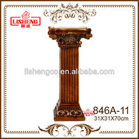 Decorative square resin roman pillars and columns for home 846A-11