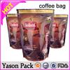 Yason aluminum bag for coffee custom printed 250g/500g/1kg coffee bag coffee valve applicator