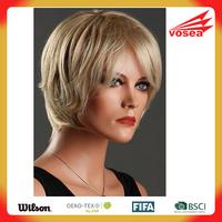 Kanekalon Fiber Synthetic Lady Short kinky curly Blonde Wig