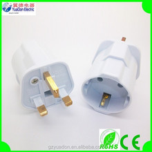 electrical plug adapter for europe to England UK adapter