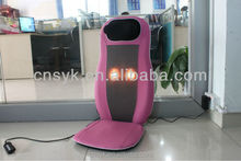 Popular electric full back neck Shiatsu Massage Chair/ car, home , office seat rolling & vibrating massager cushion device