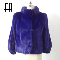 Factory direct wholesale lady's fashion mink fur coat beijing /short mink fur coat/mink coat