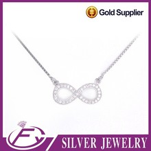 Hot selling shine cubic zircon stone pictures of fashion necklaces