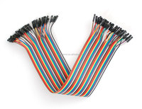 Flexible 20cm Multicolored 40 Pin Female to Female Breadboard Jumper Wires Ribbon Cable Wire