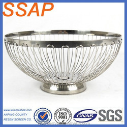 Stainless Steel SS18/8 304 Fruit&vegetables Storage Basket