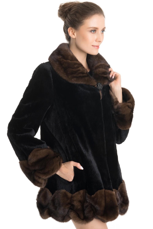 qd70709 haute couture et de qualit hiver fourrure de vison manteaux vestes avec volants. Black Bedroom Furniture Sets. Home Design Ideas
