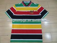 bangladesh New fashionable man yarn dyed cotton stripe T-shirt clothing wholesale