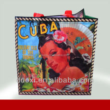 Promotion no woven laminated perfume cosmetic shopping bag 100% manufacturer