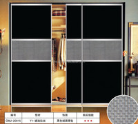 2015 HOT Sell aluminium profile sliding wardrobe door