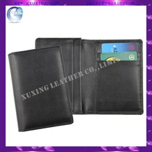 New Leather Business Expandable Wallet Money Card Case Black Mens