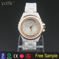 Lady's Splendid Holiday Watch Quartz Women Watch Crystal Rhinestone Silicone Pendant Wristwatches