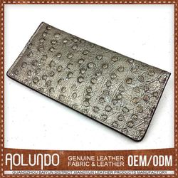 Quality First Customized Design Leather Silver Party Wallets