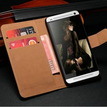 New Product Accessory Mobile Phone Case Used Genuine Leather Pocket Size Universal Book Style Bag Cover for HTC One M7 Phone
