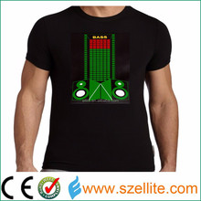 Hottest! Wholesale factory price music active party led lights for tshirts