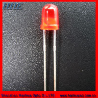 2014 hot selling products 3mm 660nm 12v red round dip led diode with resistors