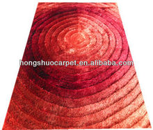 100% polyester shiny modern floor carpets and rugs
