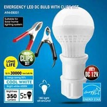 PROTABLE LED LIGHT. EMERGENCY LIGHT. EMERGENCY LED DC BULB WITH CLIPS SET