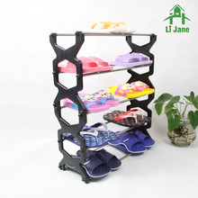 5 tiers collapsible folding plastic shoe rack