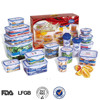 EASYLOCK bpa free plastic container with 16pcs set