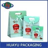 Grass Green New Design Customized Paper Gift Bag