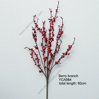 artificial red berry branch YCA984 Christmas berry branch