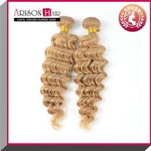 China supplier deep wave #613 human hair beyonce weaving