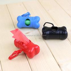Purina dog chew Pet bone shape waste bag with dispenser/portable plastic bag waste case set