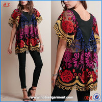 2015 woman clothong top selling products embroidery designs ladies fancy tops black mesh tunic