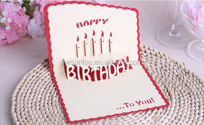 2016 Cheap Happy Birthday Card 3d Handmade Card Wholesale Buy 3d