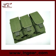 Military Airsoft Molle M4 Triple Magazine Pouch Made By Nylon