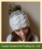 hot fashion lady knitting hats knitted snow cap