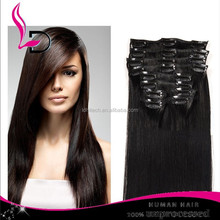 grade 8a brazilian hair weaves wholesale human hair weft silky straight remy clip in hair extensions for african american