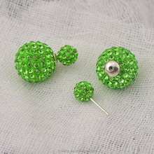 CHEAP PRICES!! Top selling cz diamond earrings with clay ball