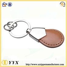 custom made logo leather key ring promotion key chain