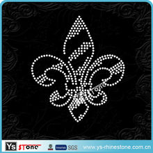 21A019 Wholesale Fleur De Lis rhinestone accessory for t shirt