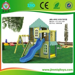 Kids wood houses playground amusement park games for bakyard