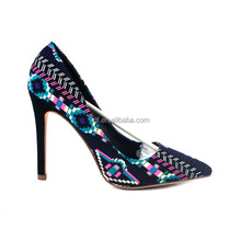 Customized rubber outsole High heel Womens shoes italian spring styles sexy heels