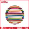 New plastic hotel use dinner plate , colorful stripe melamine plate