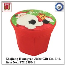Christmas Design Collapsible Fabric Storage Stool