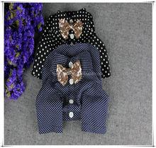 Polka dot blue and black dog shirt,pet dog clothes,pet accessory