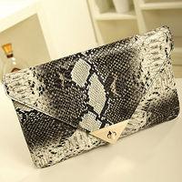 designer handbag stylish handbags clutch snake purse envelope bags E348