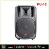 "Professional 12"" Passive Stage Audio Speakers PU-12"
