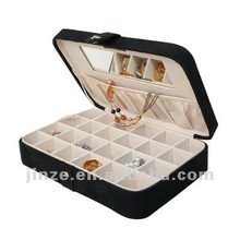 Mele Sueded Fabric jewelry case in Black