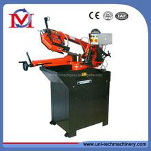 Swivel band sawing machine