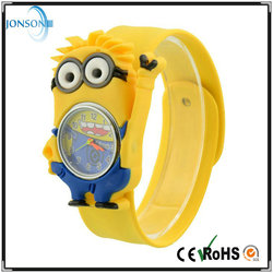 Promotional wholesale bulk Minions cheap wholesale kids watches silicone