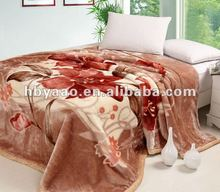 2ply printing heavy polyester queen size mink blankets