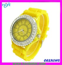 wholesale silicone promotion 3 atm stainless steel back watch silicone sport watch