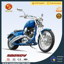 250CC 600CC Blue Chopper Motorcycle High Quality Air-cooled Crusier Motorcycle SD250V