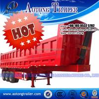 2 axle 70 ton Gooseneck Rear dump truck trailer / tipper semi trailer / tipper trailer for sale