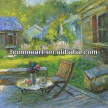 Garden natural scenery oil painting for sale